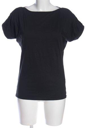 Yaya Kurzarm-Bluse schwarz Casual-Look