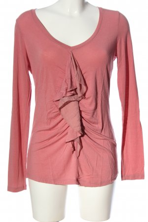 Yaya Langarm-Bluse pink Casual-Look