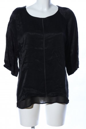 Yaya Langarm-Bluse schwarz Casual-Look