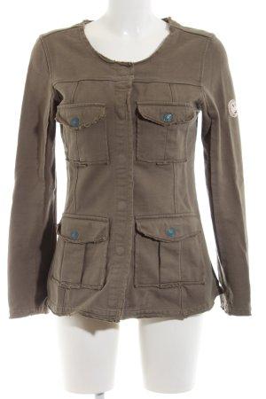 Yaya Long Jacket brown casual look