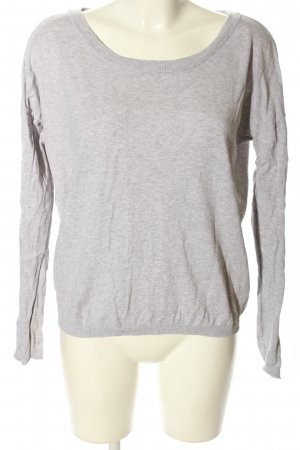 Yaya Longsleeve light grey flecked casual look