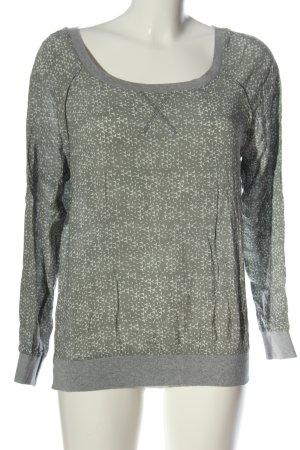 Yaya Longsleeve light grey-white abstract pattern elegant