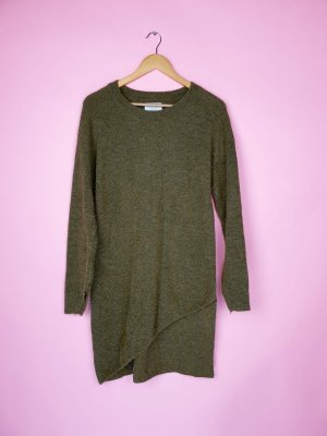 Yaya Long Sweater olive green alpaca wool