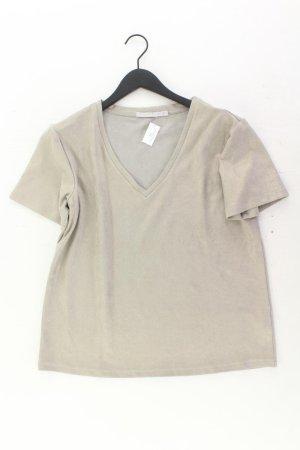 Yaya V-Neck Shirt silver-colored polyester