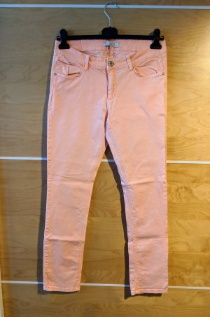 Yaya Jeans skinny albicocca-rosa Cotone