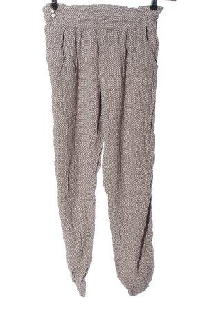 Yaya Jersey Pants brown-natural white allover print casual look
