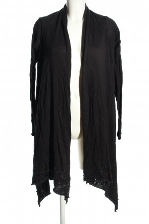 Yaya Strick Cardigan schwarz Casual-Look
