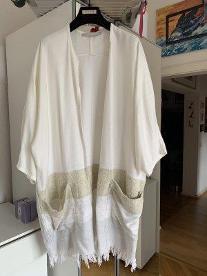 YAYA Strickmantel Mantel Kimono Strickhüll SM beige Blogger Cardigan Poncho