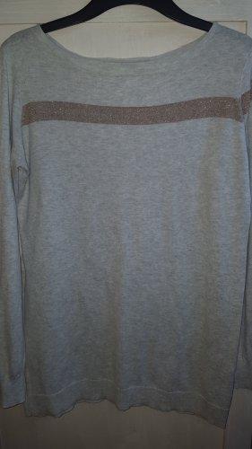 Yaya Wool Sweater light grey cotton