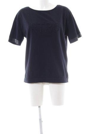 Yaya T-Shirt blau Schriftzug gedruckt Casual-Look
