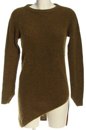 Yaya Maglione di lana marrone stile casual