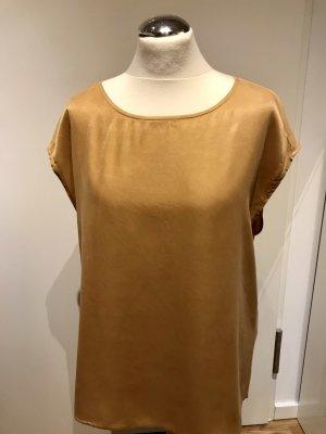 Yaya Woman: Seidiges Shirt aus Cupro Modal Gr. 38 Gold neuwertig