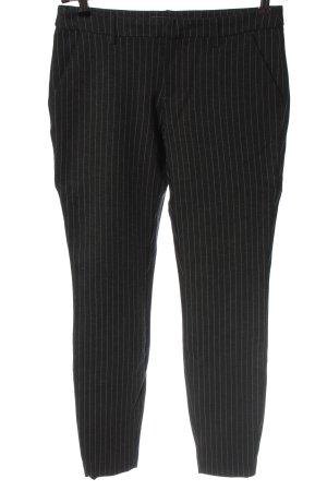 yaya women Pantalon de costume noir motif rayé style décontracté