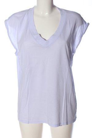 YAYAWoman Kurzarm-Bluse lila Casual-Look