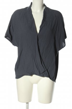 YAYAWoman Oversized Bluse hellgrau Casual-Look