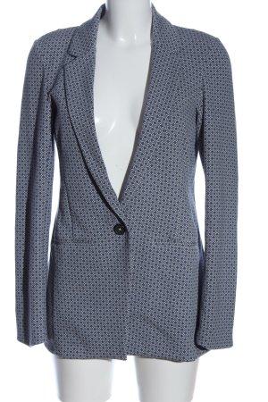YAYAWoman Blazer tejido azul-gris claro estampado gráfico look casual