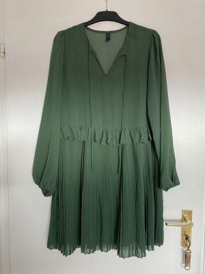 yaz Chiffon jurk bos Groen-donkergroen