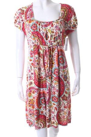 YBS Kurzarmkleid abstraktes Muster Street-Fashion-Look