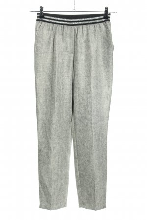Ycoo Paris Pleated Trousers light grey weave pattern casual look