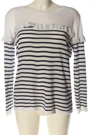 Ycoo Paris Crewneck Sweater white-black striped pattern casual look