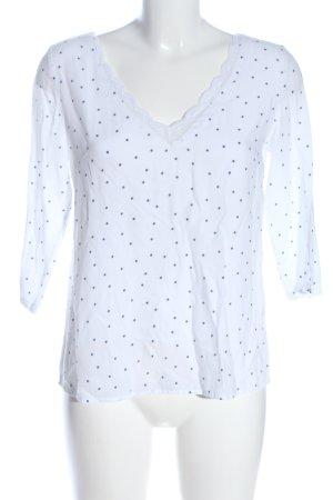 Ycoo Paris V-Neck Shirt white-blue allover print casual look
