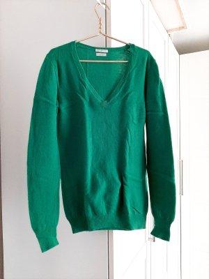 Yeah!!! Neuwertiger Pulli aus M e r i n o extra fine Wolle, grün, BENETTON, Gr. S/M