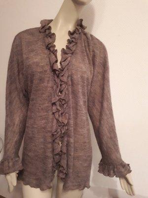 YELLAMARIS, sehr hochwertig locker gestrickter Cardigan mit Rüschen, neu Gr. 40