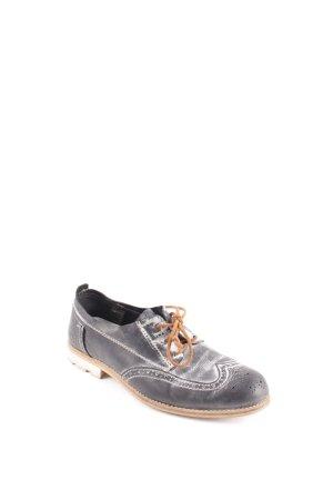 Yellow cab Schnürschuhe grau-weiß Farbverlauf Street-Fashion-Look Leder