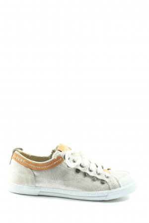 Yellow cab Schnürsneaker hellgrau-hellorange Casual-Look