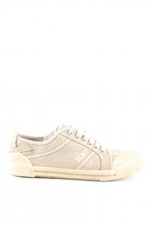 Yellow cab Schnürsneaker creme Casual-Look