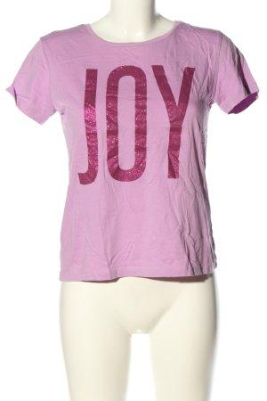 YES OR NO Print-Shirt pink Schriftzug gedruckt Casual-Look