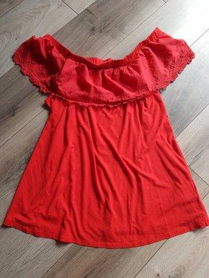 Yessica Camisa tipo Carmen rojo