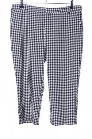 Yessica 3/4 Length Trousers black-white check pattern casual look