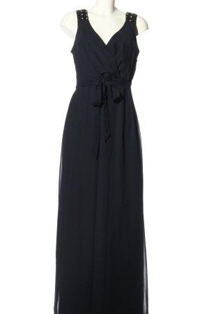 Yessica Vestido de noche negro elegante