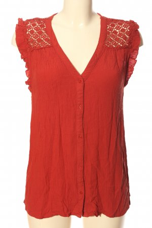 Yessica ärmellose Bluse rot Casual-Look