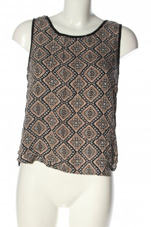Yessica ärmellose Bluse grafisches Muster Casual-Look