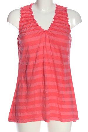 Yessica ärmellose Bluse pink Streifenmuster Casual-Look