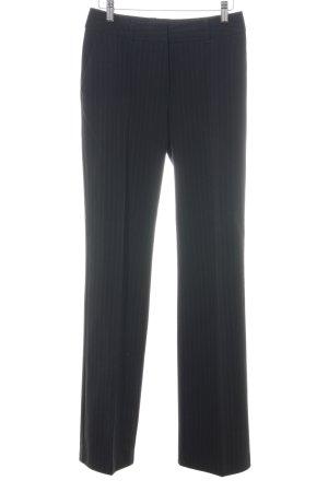Yessica Anzughose schwarz Streifenmuster Business-Look