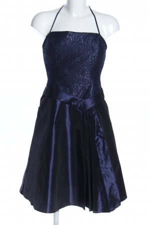 Yessica Ballkleid blau Blumenmuster Glanz-Optik