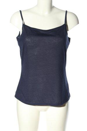 Yessica Basic Top blau Casual-Look