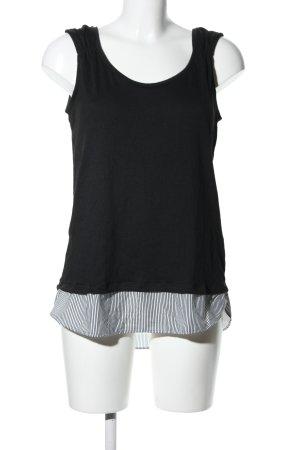 Yessica Blusentop schwarz-weiß Streifenmuster Casual-Look