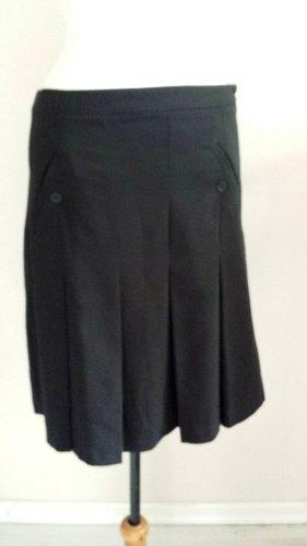 C&A Plisowana spódnica czarny Tkanina z mieszanych włókien