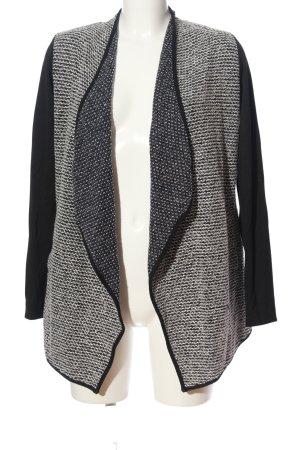 Yessica Cardigan noir-gris clair Motif de tissage style décontracté