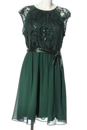 Yessica Vestido de cóctel verde elegante