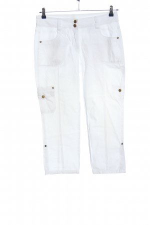Yessica Spodnie Capri biały W stylu casual