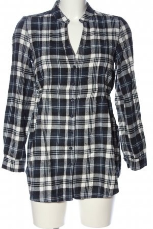 Yessica Flannel Shirt black-white check pattern casual look