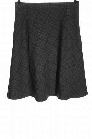 Yessica Falda acampanada gris claro-negro estampado a cuadros look casual