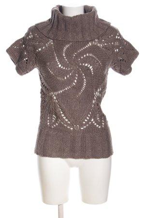 Yessica Gehaakt shirt bruin kabel steek casual uitstraling