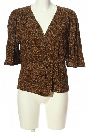 Yessica Hemd-Bluse braun abstraktes Muster Business-Look