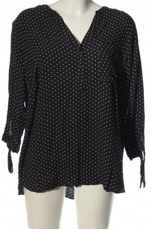 Yessica Hemd-Bluse schwarz-weiß Punktemuster Casual-Look